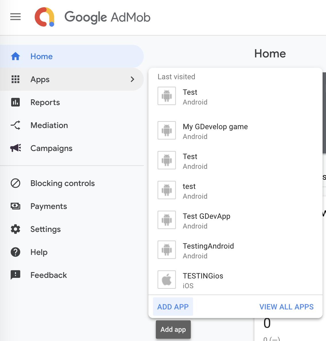 Integrating ads using Google AdMob [GDevelop wiki]